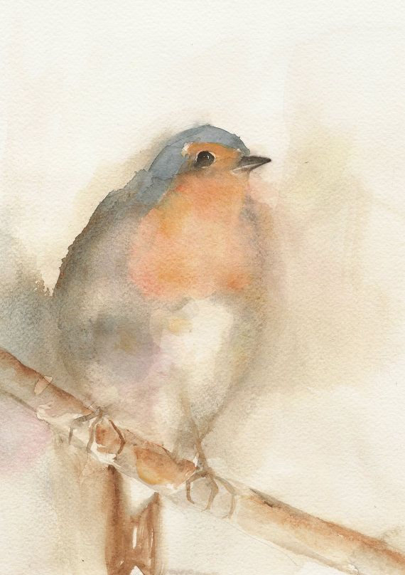 Robin original watercolor
