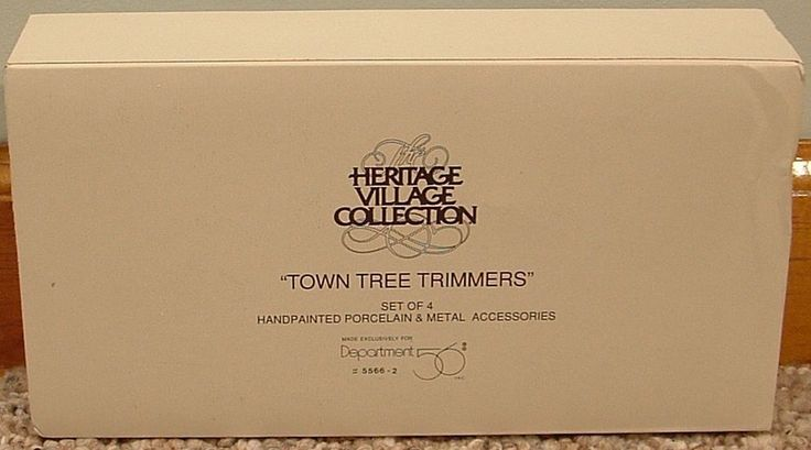 Dept 56 Heritage Village Collection Town Tree Trimmers