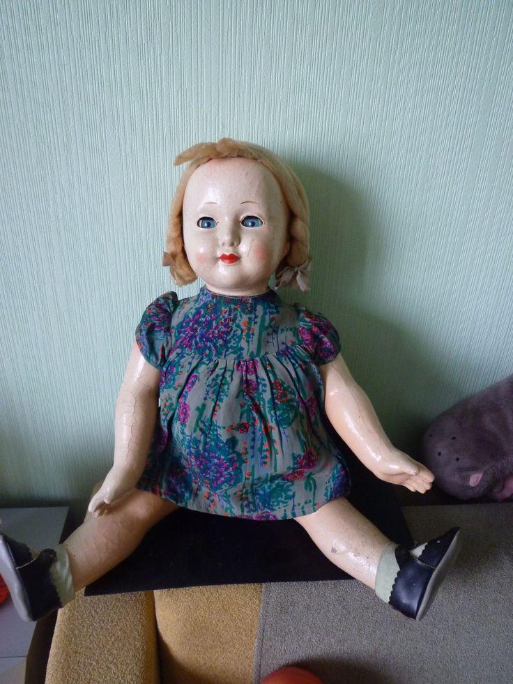 Кукла СССР  Древесно-стружечная масса  55 см
