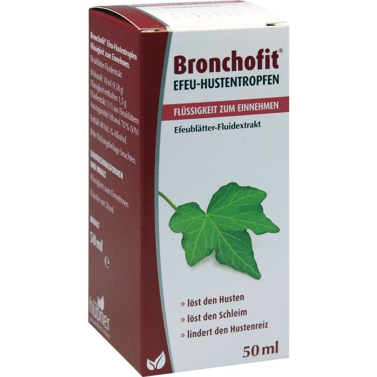 BRONCHOFIT Efeu-Hustentropfen Flüssigk.z.Einnehmen:   Packungsinhalt: 50 ml Flüssigkeit zum Einnehmen PZN: 08818450 Hersteller: Hübner…