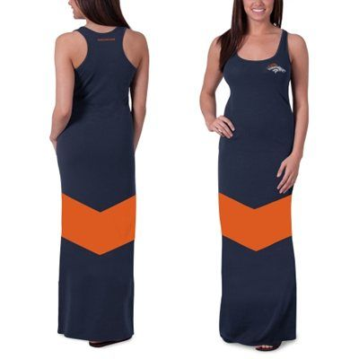 Women's Denver Broncos '47 Brand Navy Blue Encore Maxi Dress