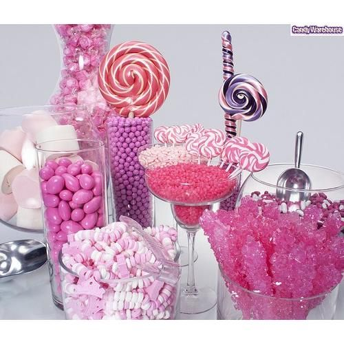 This site has a grand selection of bulk candy!  Reasonable prices too!Birthday Parties, Jordans, Food, Pink Candies Buffets, Pink Candy Buffet, Rocks Candies, Parties Ideas, Candies Bar, Pink Parties
