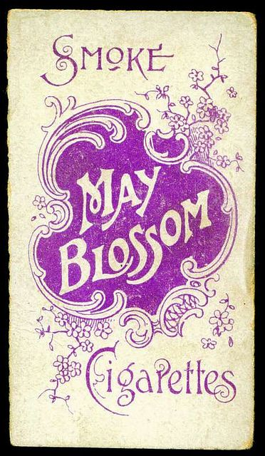 Cigarette Card Back - May Blossom Cigarettes by cigcardpix, via Flickr