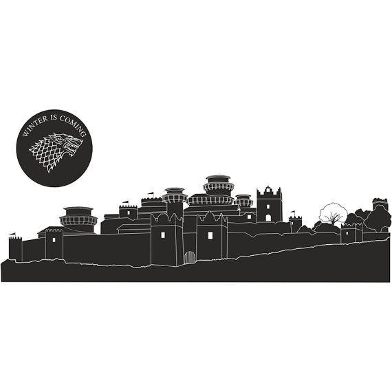 Game of Thrones Winterfell skyline vinyl wall decal