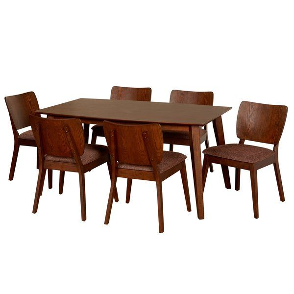 Classic Midcentury Modern Design Meets Scandinavian Inspired Simplicity In This Chic Seven P Kitchen Dining Sets Dining Room Sets Contemporary Dining Room Sets