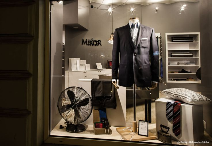Mercer Fashon Showroom in Warsaw, Window Display. See full project at: http://370studio.com/mercer/