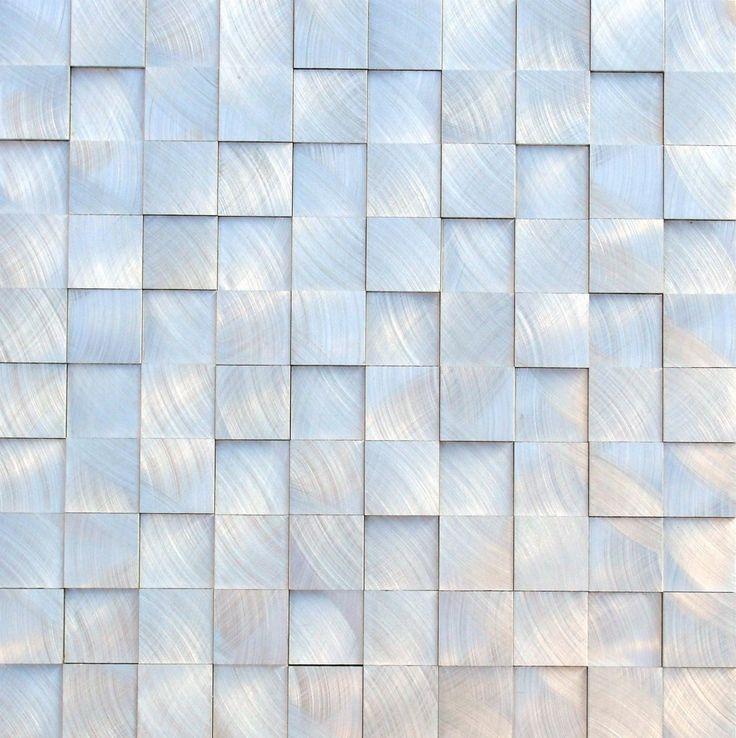 Aluminum Mosaic Tile 3D Raised 1x1. 28 best Split Face Tiles images on Pinterest   3d tiles  Kitchen