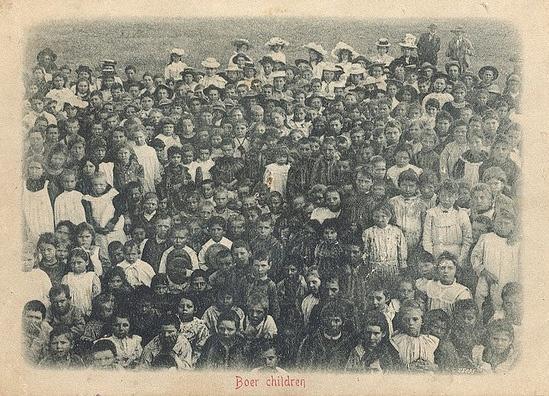 Oct 11, 1899: Boer War begins in South Africa Boer Children displaced during the Boer War concentration camp.