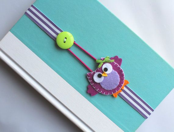Elastic Ribbon Bookmark, Erin Condren Planner, Girls Bookmark, Owl Bookmark, Place Holder, Filofax, Bible, Book, Planner ebmowl11