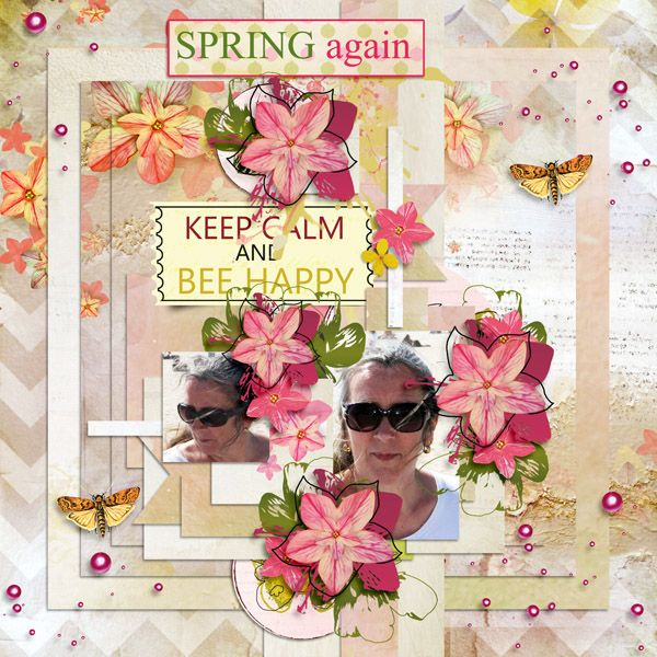 """Kit """"Spring Again"""" by Sekada designs http://store.scrapgirls.com/designers/Sekada-Designs.html Templates """"A Happy Spring Day"""" by Tinci  http://store.gingerscraps.net/A-happy-spring-day.html"""