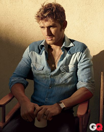 Alex Pettyfer: Alexpettyf, Chambray Shirts, Denim Shirts, Man Candy Mondays, Beauty People, Jeans Styles, Alex Pettyfer, Westerns Shirts, Alex O'Loughlin