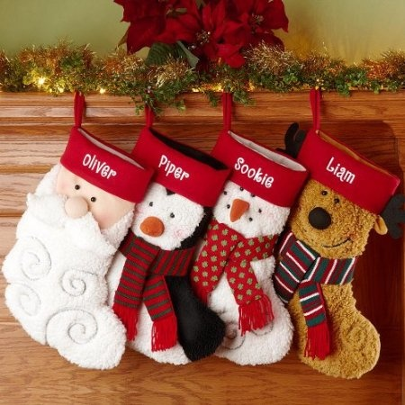 Amazon.com: Personalized Furry Friends Stockings - Christmas Stockings: Home & Kitchen
