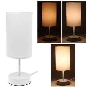 lampe de chevet sensitive touch tactile design 3 intensits lumineuses blanc pas cher - Lampe De Chevet Originale Pas Cher