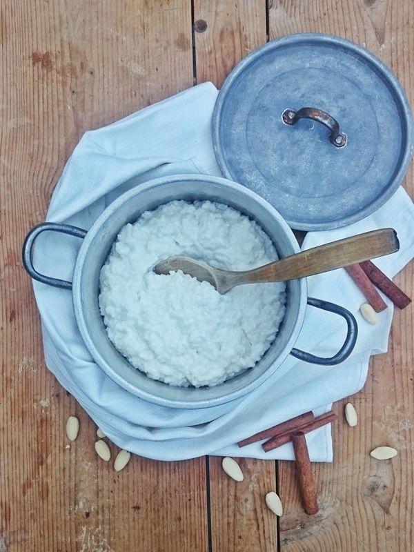 Ruokakonttuuri: Vegaaninen riisipuuro kaurakermalla