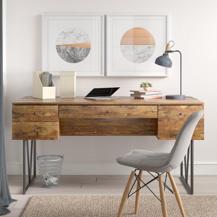 Fallon Desk In 2020 Wood Office Desk Light Wood Desk Natural