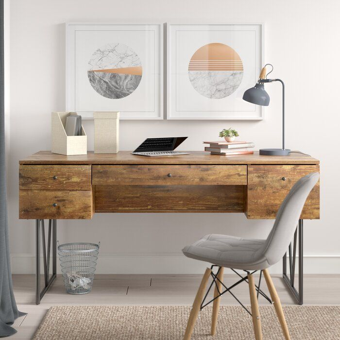 Fallon Desk Wood Office Desk Home Office Design Desk With Drawers
