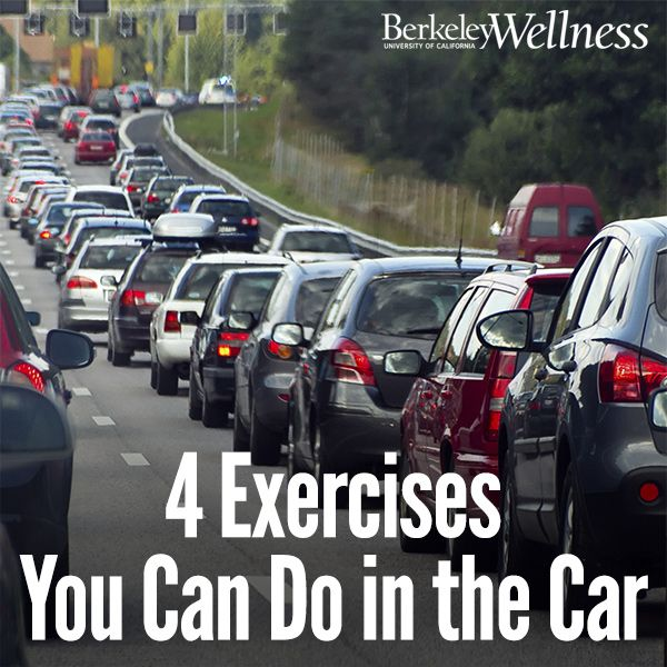 Stuck in #traffic? Limber up with these 4 #exercise ideas that you can do in the #car. #fitness #vacation #roadtrip  #stretch