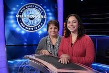 """Almost everyone needs to use a lifeline. On today's all-new #MillionaireTV, contestant Nicole Adams has her +1 lifeline at her side. Will Nicole's helping hand help hand her a fortune? Don't miss Wednesday's """"Millionaire"""" with host Chris Harrison. Go to www.millionairetv.com for time and channel to watch."""