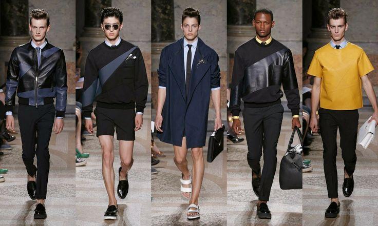 Les Hommes #Fashion #moda #men #hombre  http://cuchurutu.blogspot.com.es/2014/06/la-semana-de-la-moda-masculina-en-milan.html