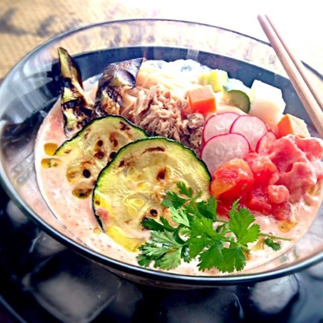 ココナッツミルクもプラスしてちょっとエスニックな雰囲気にしてみましたが、 とても美味しいレシピでした♪( ´▽`) トマトのシャーベットを少しトッピングしてひんやりシャリシャリ - 79件のもぐもぐ - marimari-san's Recipe 冷たい豆乳トマトそうめん by mayumi