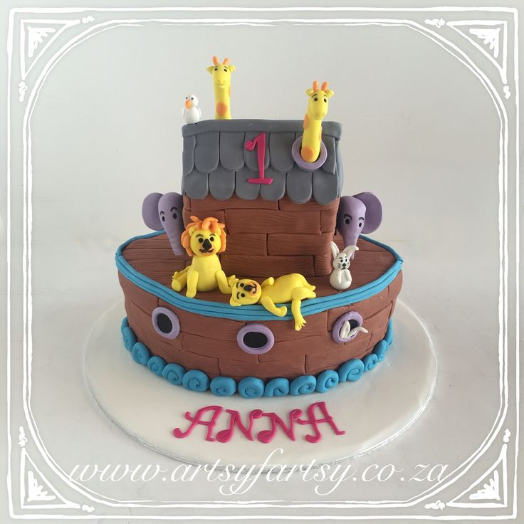 Noah's Ark Cake #noahsarkcake