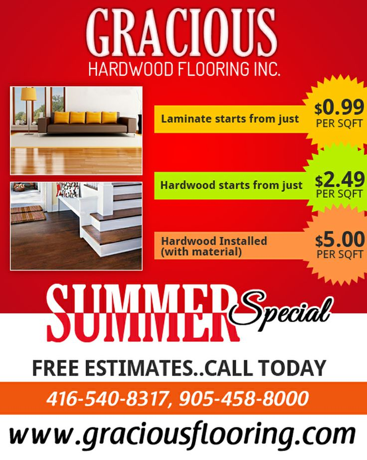 Get summer's #SpecialOffer on #HardwoodFlooring  For Free #Estimate, Call Today: 416-540-8317, 905-458-8000 http://www.graciousflooring.com