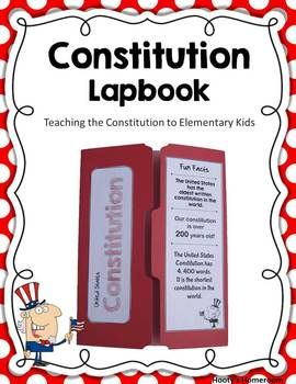 Constitution Lapbook Idea. (Have students make them from scratch rather than buying them)