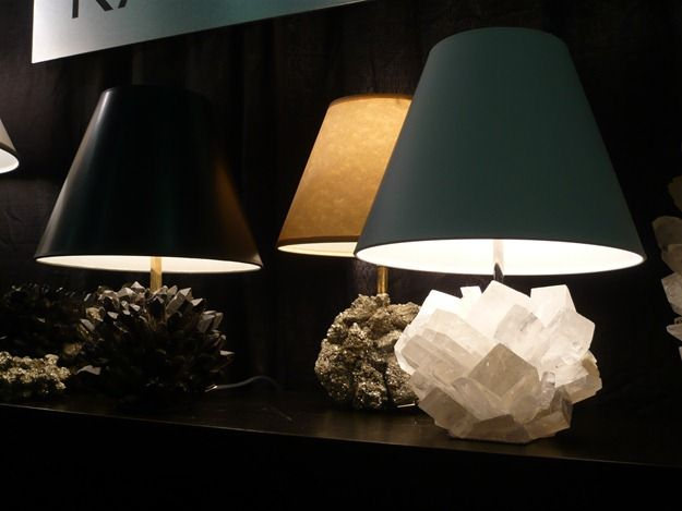 Kathryn McCoy's gemstone and mineral lamps