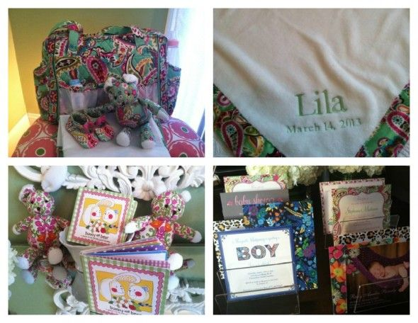 Vera Bradley Baby Collection Launches March 14. Monogramming, stuffed animals, books and Tiny Prints styles