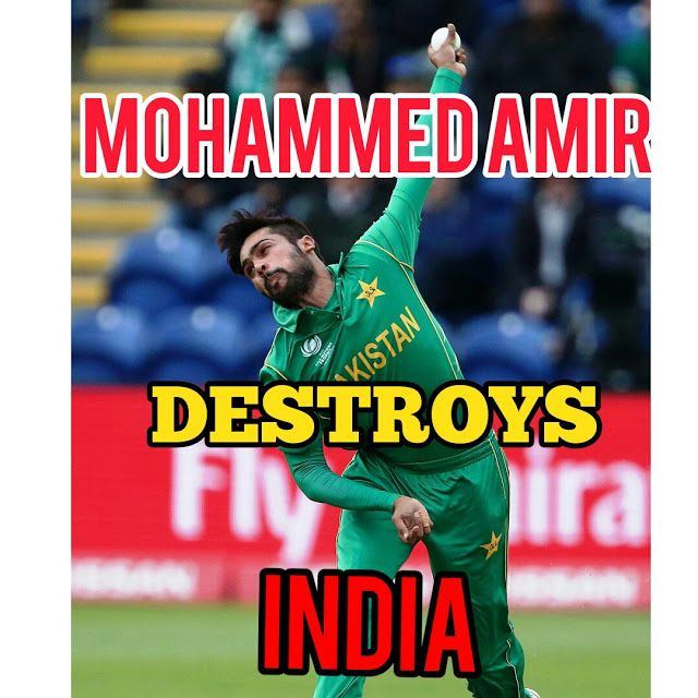 Indian sports Channel: mohammed amir destroyed india champions trophy fin...