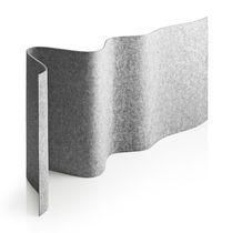 floor-mounted desk partition / fabric / design