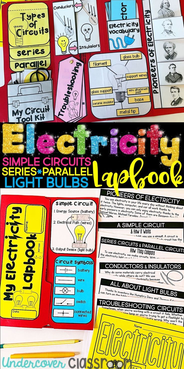 Series Circuit With Battery And Lightbulbs