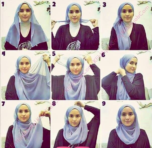 I would like to try this tutorial for square hijab, it seems really pretty.