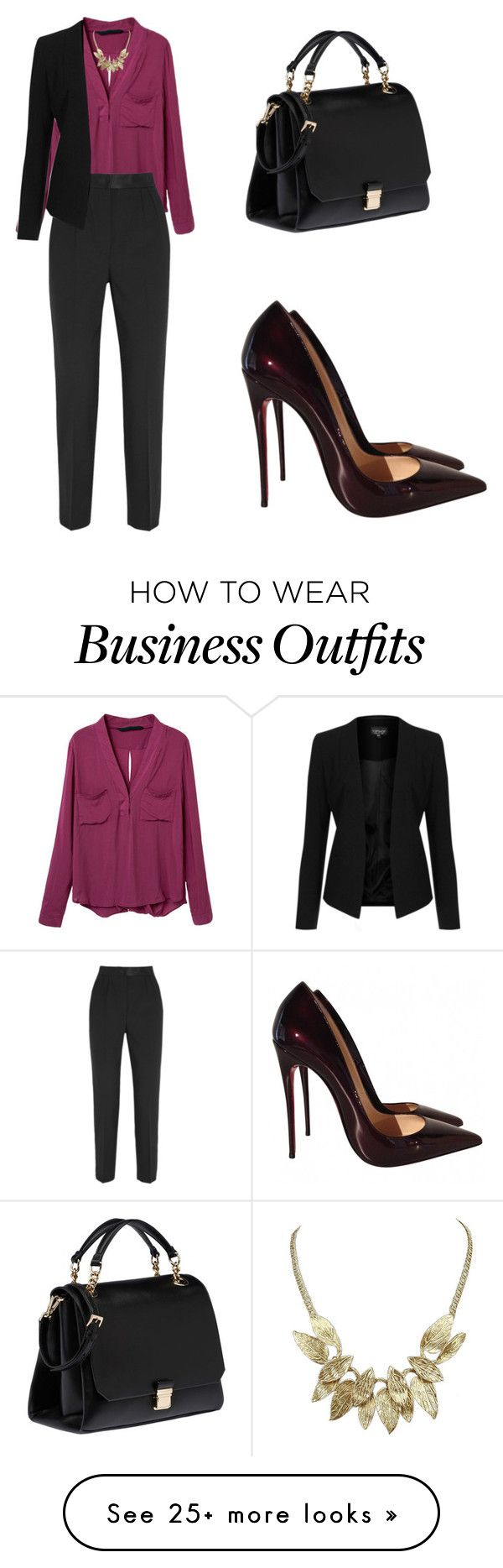 """""""Work Wear"""" by tania-alves on Polyvore featuring Dolce&Gabbana, Topshop, Miu Miu and Christian Louboutin"""