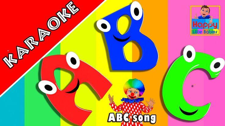 KARAOKE | ABC Song |  nursery rhymes for babies  | Happy Little Babies N...