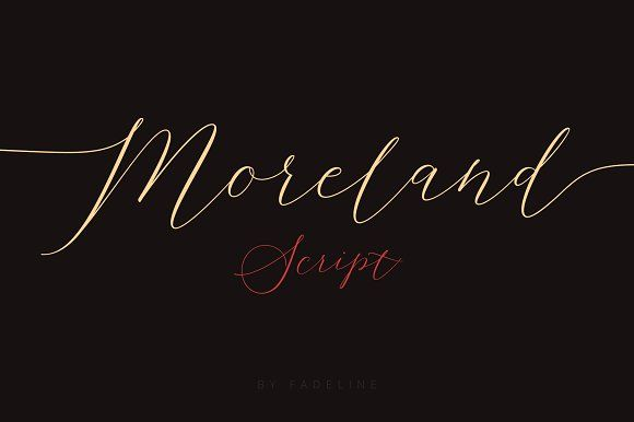 Moreland Script by FadeLine on @creativemarket