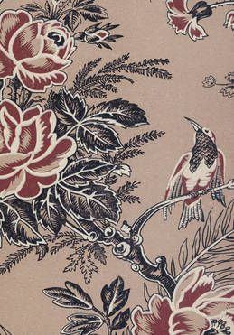 Muscat Vintage Classic Wallpaper in Sable colourway.