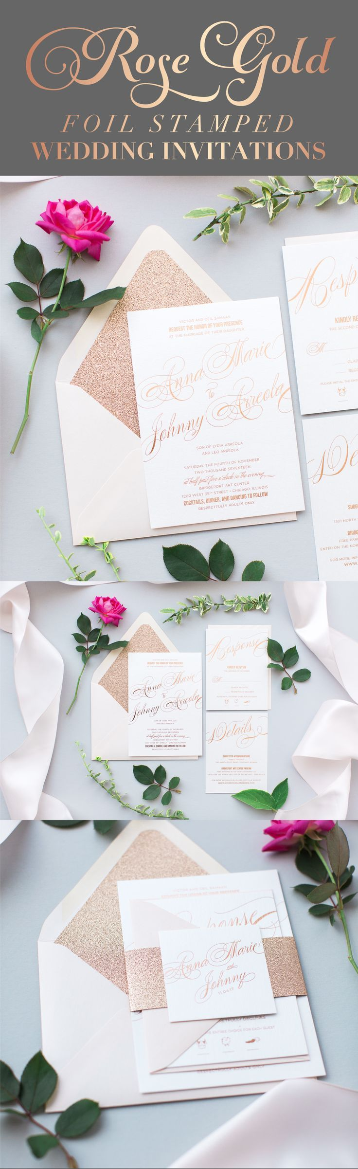 660 Best Rose Gold Wedding Love Images On Pinterest