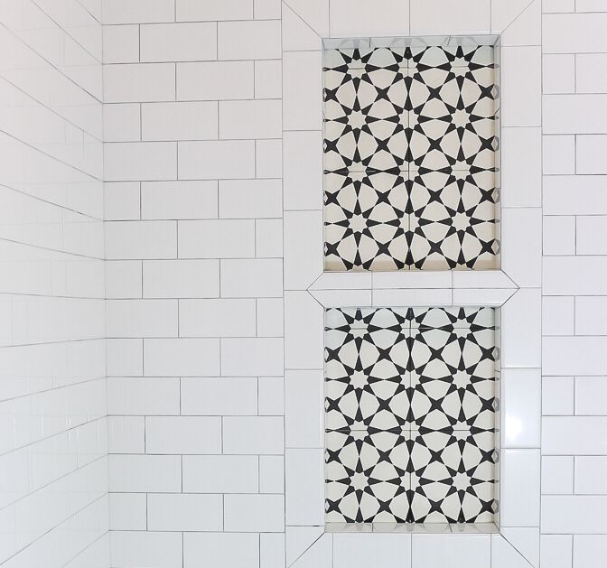 10 95 Per Sq Ft Free Shipping Cement Tile Cement Tile Cement Tiles Bathroom Tile Shower Niche