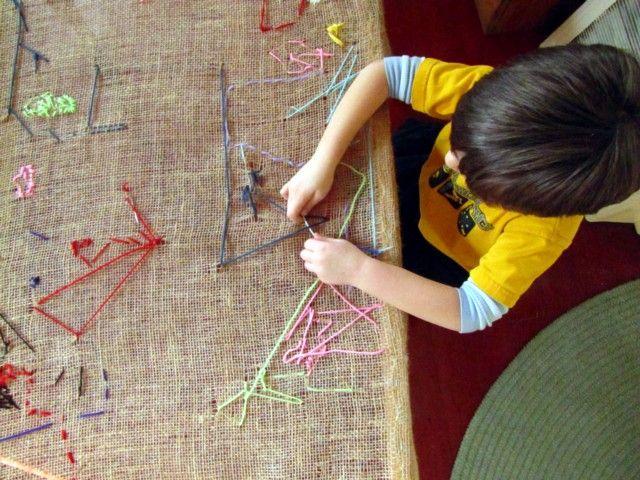 preschool tapestry table - so cool!