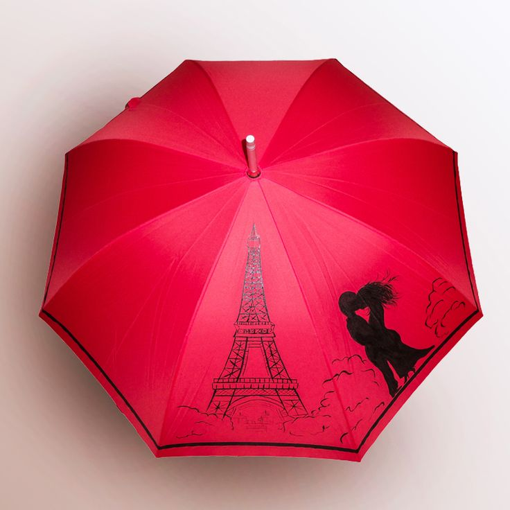 Зонт Романтика в Париже купить в Санкт-Петербурге #зонт #зонтик #umbrella #parasol #design #спб #россия #роспись #хендмейд #handmade #рисунок #drawing #draw #style #styling #складной #дизайнерский #заказ #крутой #черный #дождь #прикольный #подарок