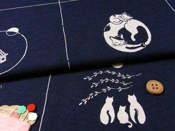 Japanese fabrics, cotton, animals & birds