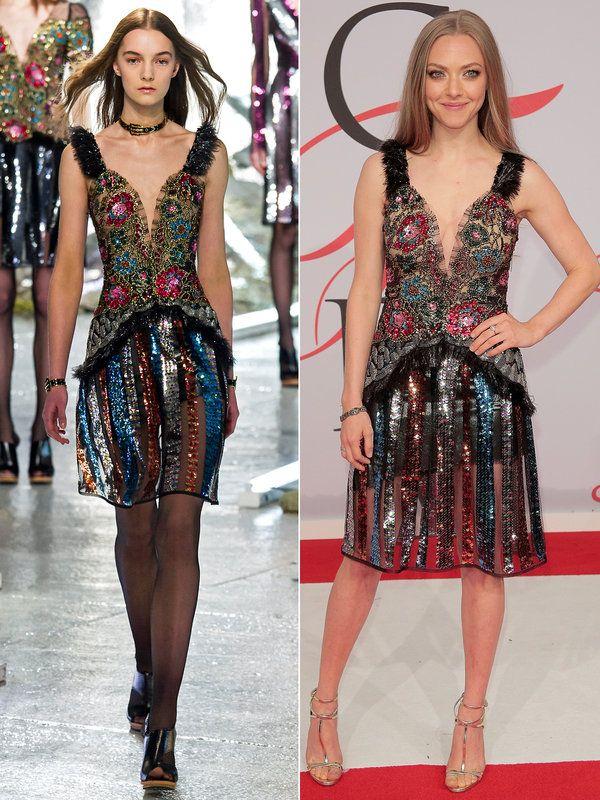 【ELLE】やっぱりグロー素材に視線集中! 「ロダルテ」のドレスが新しい|ランウェイtoリアルウェイ! おしゃれセレブの2015年秋冬OKINI 10連発|エル・オンライン
