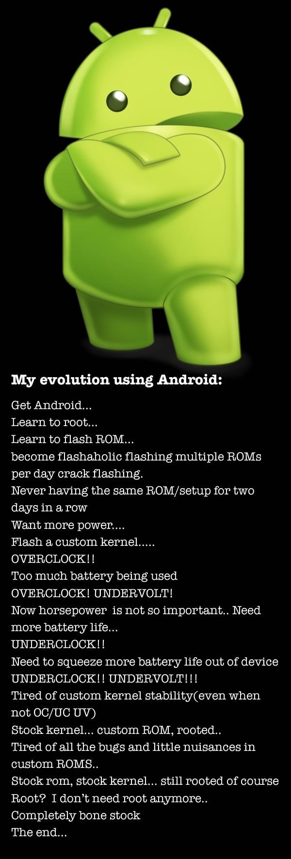 Evolution of using Android