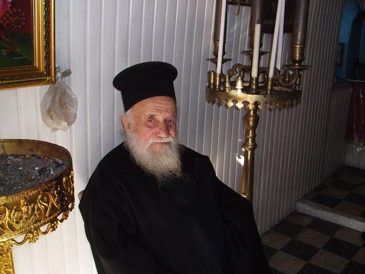 SANTORINI  He performed a wedding in a chapel on Palea Kameni islet