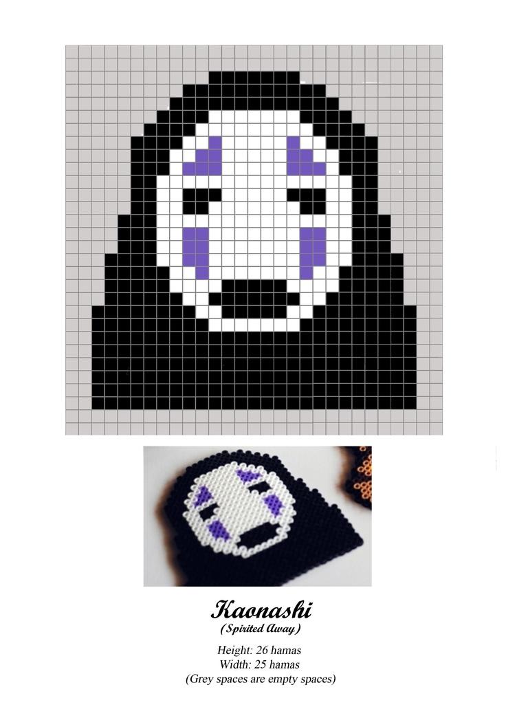 Kaonashi - No Face - Chihiro - Spirited Away - hama beads - pattern