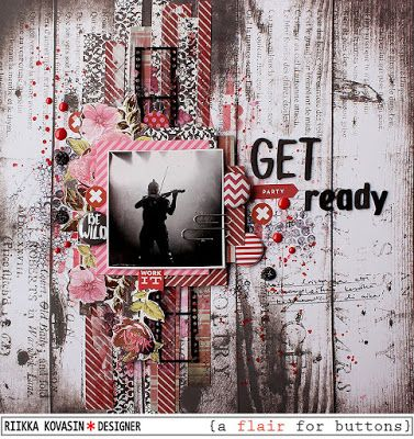 Get ready to party by Riikka Kovasin for A Flair for Buttons