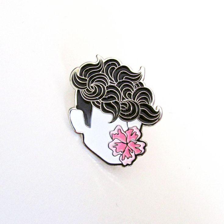 FLOWER BOY Soft Enamel Pin – tommyboydesign {cool enamel lapel pin badge flower …