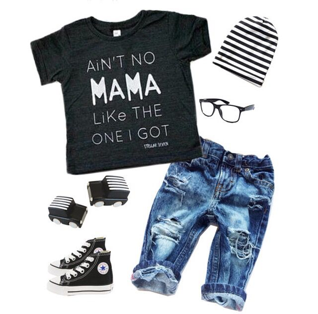 MONOCHROME TODDLER BOY OUTFIT