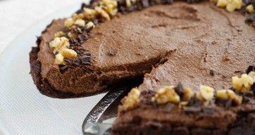 Helt rå sjokoladekake uten melk og mel